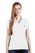 POLO RALPH LAUREN - Classic-Fit Polo Shirt Lacoste White Ladies