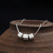 Luo Ling Long Brushed Square Necklace