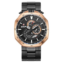 Expedition Man Chronograph Black Pattern Dial Stainless Steel [EXF-6745-MCBBRBA]