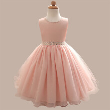 BESSKY Kids Girl Beaded Dress Princess Formal Pageant Holiday Wedding Bridesmaid Dress_