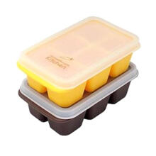 Mother's Corn Kitchen Double Freezer Cubes Peralatan Makan - Yellow Brown