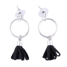VOITTO Fashion Jewelry Vonly Single Ribbon V29 Earrings [Black]