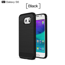 Smatton Case hp SAMSUNG Galaxy S6 Luxury Shockproof Case Carbon Fiber For Soft TPU Full Protect Ultra Thin Case shell