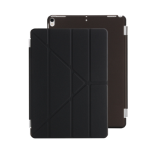 Ins I-00381 artificial leather Hard Core sheer Apple Ipad 1/2/3 protective cover&Y stand-Black