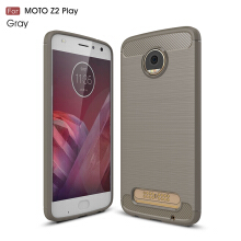 Smatton Case hp MOTO Z2 play Luxury Shockproof Case Carbon Fiber For Soft TPU Full Protect Ultra Thin Case shell