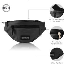 The X Woof - Water Repellent Wasit Bag Black
