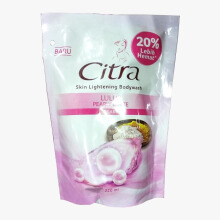 CITRA Lulur Pearly White Liquid Body Wash Refill 220ml