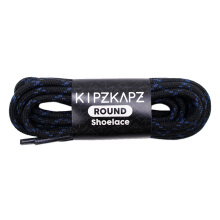 KIPZKAPZ RS1 Round Shoelace - Black Blue [4mm]