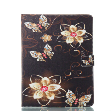 Sentum Apple iPad 2 3 4 Case Tablets Flip Stand Leather Bright Butterfly