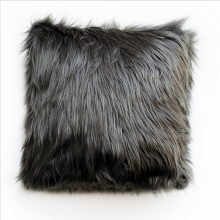 GLERRY HOME DÉCOR Midnight Fur Cushion - 40x40Cm