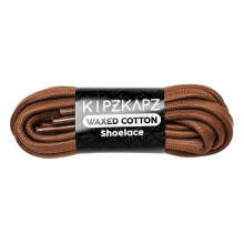 KIPZKAPZ W6 Waxed Cotton Flat Shoelace - Brown [6mm]