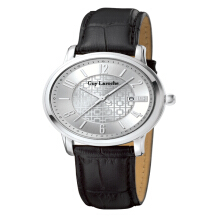 Moment Watch Guy Laroche G2020-01 Jam Tangan Pria - Leather Strap - Hitam