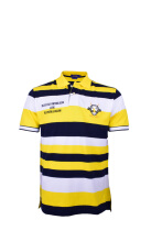 POLO RALPH LAUREN - Custom-Fit Lacoste Striped Polo Yellow-White-Navy Men