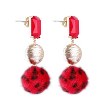 VOITTO Fashion Jewelry Red Leopard B10 Earrings