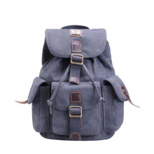 Troop London Classic Medium Canvas Backpack TRP0269 Black