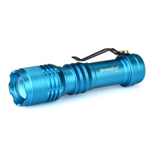 BESSKY Q5 AA/14500 3 Modes ZOOMABLE LED Flashlight Torch Super Bright_ Blue