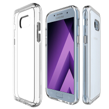 JantensSamsung Galaxy A5 2017 Case Hybrid Soft TPU Protective Shockproof Hard PC Frame Cover Transparent