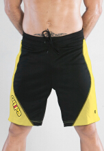 GRIPS MEN TRAINING SHORTS - YELLOW/BLACK