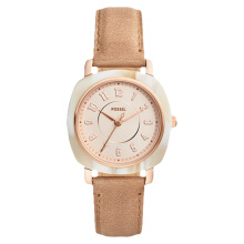 Fossil Idealist Ladies Rose Gold Dial Brown Leather Strap [ES4282]