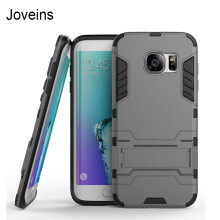 Joveins For Samsung Galaxy S7 Edge Case G9350 Slim Robot Armor Kickstand Shockproof Rubber Back Case For Samsung S7