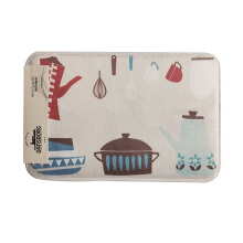 BATHMAT KITCHEN TOOLS 40X60 CM   KESET KAKI - MULTICOLOR