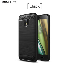 Smatton Case hp MOTO E3 Luxury Shockproof Case Carbon Fiber For Soft TPU Full Protect Ultra Thin Case shell