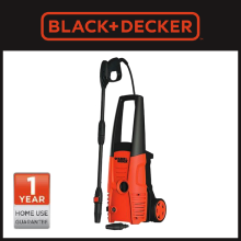 Black+Decker Pressure Washer 1400w 110 Bar PW1400S-B1 Orange