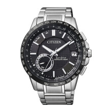 CITIZEN GPS Eco Drive Watch - Silver Strap/Black Dial 43mm Gents [CC3007-55E]