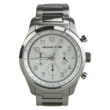 Michael Kors Chronograph White DIal Silver Stainless Steel [MK8036]