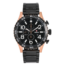 Expedition Man Chronograph Black Dial Stainless Steel [EXF-6387-MCBBRBA]