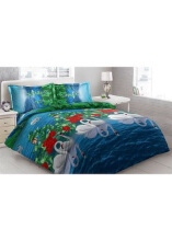 Sprei Bantal 2 Vito Disperse 160x200cm Swan - Blue