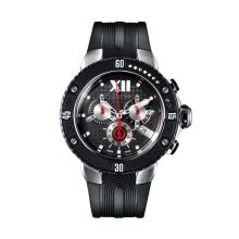 Moment Watch Guy Laroche GL6267-02 Jam Tangan Pria - Leather Strap - Black Black