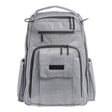 Jujube Be Right Back Black Matrix Diaper Backpack Gray