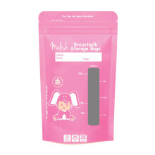 MALISH Breastmilk Storage Bags (Kantong Asi) 100 ml - Pink Isi 30 Pcs