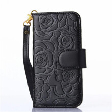 BESSKY Luxury Camellia Pattern  Leather Card Wallet Case Cover for Samsung Galaxy S7_