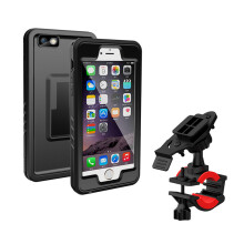 BESSKY Bike Bicycle Stand Waterproof Handlebar Case Cover Mount Holder For Iphone 6/6S Plus 5.5 inch_ Black