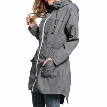 BESSKY Women Lightweight Travel Waterproof Raincoat Hoodie Windproof Hiking Coat Jacket_