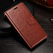 Smatton For Samsung Galaxy J2 2016 Vintage Wax Crazy Horse Leather Wallet Case TPU Card Holder Cover Case