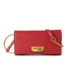 HUER Kaimma Wallet On Chain Clutch - Maroon