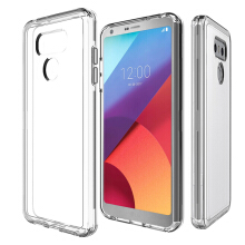 VEN LG G6 Case Hybrid Soft TPU Protective Shockproof Hard PC Frame Cover Transparent