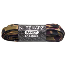 KIPZKAPZ XS4 Flat Printed Cotton Shoelace - Green Camouflage [6mm]