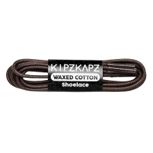 KIPZKAPZ W2 Waxed Cotton Round Shoelace - Dark Brown [3mm]