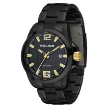 Police Lancer Black Dial Black Ion Plated Case Black Stainless Steel Strap [PL.14014JSB/02MB] Black