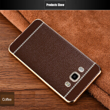 Smatton Leather Case For Samsung Galaxy J7 J710 2016 Case Full Protective Soft TPU Grand Prime Plating TPU Cover Back Cover