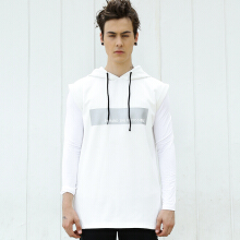 ANTHM Sleeveless Hoodie-White