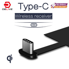 DELIVE Qi Type-C Wireless Charger Receiver Charging Adapter Receptor For Samsung/xiaomi/Huawei For Type-C