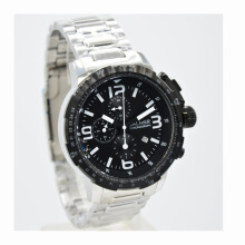 Balmer  Stainless Steel Chain Mens B.7964MS-828D45SLHTP Chronograph Silver Hitam Silver