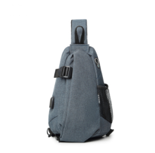 Ins I-0221 Leisure shoulder&riding bag(Big Size 28*10*38CM)-Dark Grey