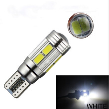 JMS - 1 Pcs Lampu LED Mobil / Motor / Senja T10 CANBUS 10 SMD 5730 Alloy Housing White