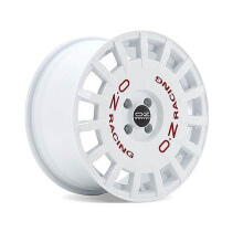 OZ Rally Racing White + Red Lettering Velg Mobil R17 X 8 et 35 - PCD 4 x 100